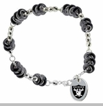Oakland Raiders Touch Color Bead Bracelet
