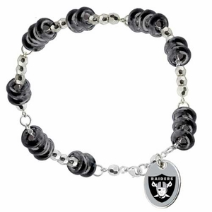 Oakland Raiders Touch Color Bead Bracelet - Click to enlarge