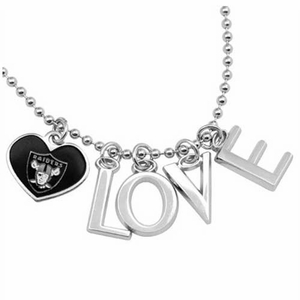 Oakland Raiders Touch Love Necklace - Click to enlarge