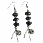 Oakland Raiders Touch Multi Bead Earrings