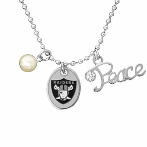 Oakland Raiders Touch Pearl Necklace - Click to enlarge