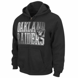 Oakland Raiders Touchback V Black Hood - Click to enlarge
