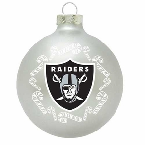 Oakland Raiders Candy Candy Traditional Ornament - Click to enlarge