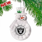 Oakland Raiders Traditional Snowman Ornament