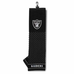 Raiders Tri-Fold Embroidered Golf Towel