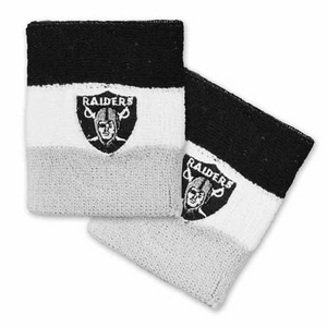 Oakland Raiders Tricolor Wristband - Click to enlarge