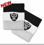 Oakland Raiders Tricolor Wristband