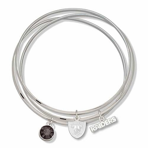 Oakland Raiders Triple Bangle Bracelet - Click to enlarge