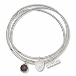 Oakland Raiders Triple Bangle Bracelet
