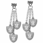 Oakland Raiders Triple Post Earrings