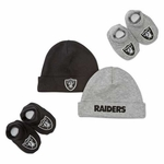 Oakland Raiders Two Cap and Two Bootie Set