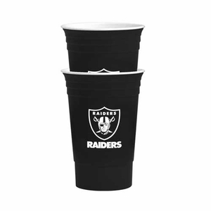 Oakland Raiders Two Pack 16oz Tailgate Cup Set - Click to enlarge