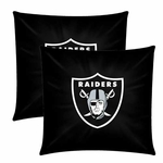 "Oakland Raiders Two Pack 18"" Logo Pillow"