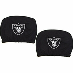 Oakland Raiders Two Pack Auto Head Rest Covers