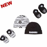 Oakland Raiders Two Pack Cap and Bootie Set