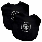Oakland Raiders Two Pack Cotton Baby Bib