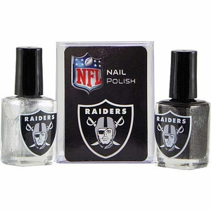 Oakland Raiders Two Pack Logo Nail Polish - Click to enlarge