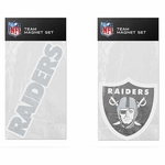 Oakland Raiders Two Pack Magnet Set