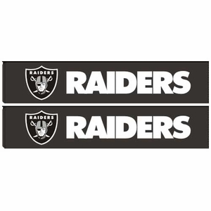 Oakland Raiders Two Pack Shoulder Pad Set - Click to enlarge