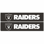 Oakland Raiders Two Pack Shoulder Pad Set