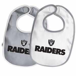 Oakland Raiders Two Pack Team Baby Bib Set - Click to enlarge