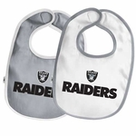 Oakland Raiders Two Pack Team Baby Bib Set