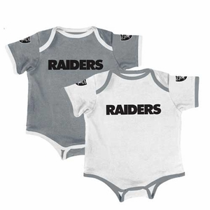 Oakland Raiders Two Piece Bodysuit Set - Click to enlarge