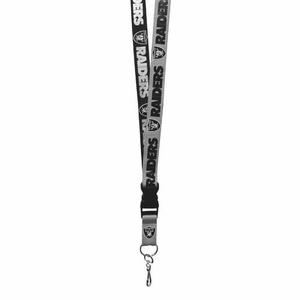 Oakland Raiders Two Tone Lanyard - Click to enlarge