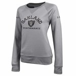Oakland Raiders Under Armour Women's French Terry Crew