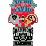 Oakland Raiders v Washington Redskins Super Bowl Lapel Pin