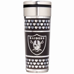 Oakland Raiders Valentine's Travel Tumbler