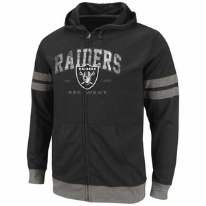 Oakland Raiders Vintage Classic II Full Zip Fleece - Click to enlarge