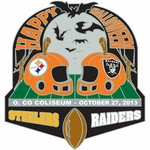 Oakland Raiders vs. Pittsburgh Steelers Head to Head Lapel Pin