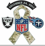 Oakland Raiders vs. Tennessee Titans Salute to Service Head to Head Lapel Pin