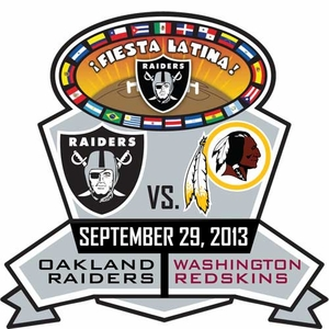 Oakland Raiders vs. Washington Redskins Head to Head Lapel Pin - Click to enlarge
