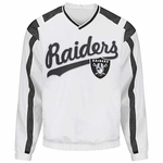 Oakland Raiders White Heavy Hitter Pullover