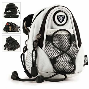 Oakland Raiders White Mini Daypack - Click to enlarge
