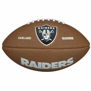 Oakland Raiders Wilson Mini Soft Touch Football - Click to enlarge