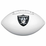 Oakland Raiders Wilson Official Team Autograph Football