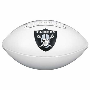 Oakland Raiders Wilson Official Team Autograph Football - Click to enlarge