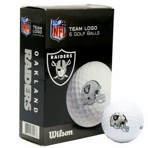 Oakland Raiders Wilson Ultra Golf Ball Six Pack - Click to enlarge