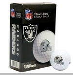 Oakland Raiders Wilson Ultra Golf Ball Six Pack
