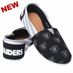 Oakland Raiders Women's Canvas Stripe Shoe