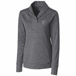 Oakland Raiders Women's Shoreline Half Zip