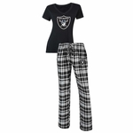 Oakland Raiders Women's Tiebreaker Sleep Set