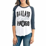 Oakland Raiders Womens All American Raglan