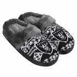 Oakland Raiders Womens Aztec Slippers