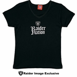Oakland Raiders Womens Black Raider Nation Tee