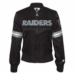Oakland Raiders Womens Blitz Satin Jacket