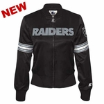 Oakland Raiders Starter Womens Blitz Satin Jacket
